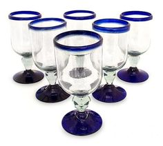 Cobalt Joy~ Mexican Hand Blown Art~ Wine Chardonnay Glasses Set of Six(6) by NOVICA, http://www.amazon.com/dp/B00A61FENG/ref=cm_sw_r_pi_dp_HnMOqb0Z0PP9R