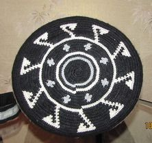 "Photo from album ""Мои работы"""" on Yandex. Designer Knitting Patterns, Knitting Designs, Crochet Patterns, Tribal Patterns, Beading Patterns, Crochet Chart, Free Crochet, Tapestry Crochet, Crochet Purses"