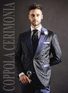 Qualified Vestito Uomo Elegante Blu Navy Slim Fit Abito Cerimonia Sartoriale Matrimonio Clothing, Shoes & Accessories