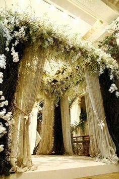 wedding ceremony canopy chuppah amazing vintage classic rustic glamorous orchids roses - WOW!