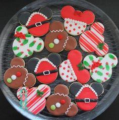 mickey mause und andere disney weihnachtsplätzchen