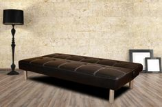 'Click Clack' Faux Leather Sofa Bed