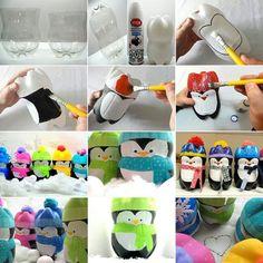 Plastic bottle penguin s