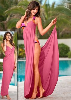 Wrap maxi dress Cover Up Swimsuit – Beachwear by Hot Styles by VENUS Beach Dresses, Summer Dresses, Summer Outfits, Diy Vetement, Bathing Suit Covers, Bathing Suits, Beach Cover Ups, Swimsuit Cover Ups, Maxi Wrap Dress