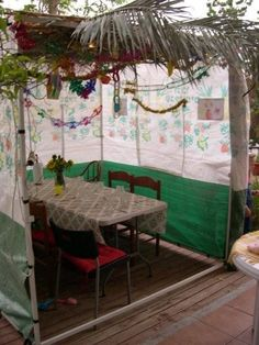 Sukkot in the dinning room too! Haha! Must do this! XD