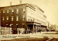 Mansion House Hospital, a Union Hospital in Alexandria, Virginia, where A. Clapp served as a Civil War citizen nurse. Library of Congress digital file Mercy Street Pbs, Old Town Alexandria, Alexandria Virginia, Virginia Is For Lovers, Civil War Photos, Mansions Homes, American Civil War, The Real World, Historical Photos
