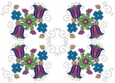 Bright Jacobean Flowers - Sensational Stitches | OregonPatchWorks Rose Embroidery, Custom Embroidery, Embroidery Thread, Machine Embroidery Designs, Embroidery Patterns, Jacobean, Free Design, Stitches, Bright