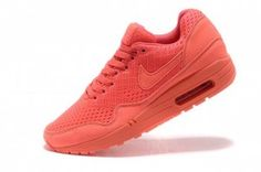 2013 New Nike Air Max 1 Femme Chaussures Rouges