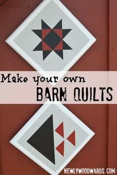Create your own barn quilt decor with vinyl. A great addition to any outdoor space (or a craft room).