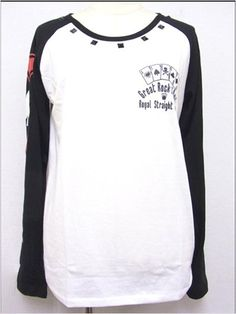 Playing Card Pattern Raglan T-Shirt available at http://www.cdjapan.co.jp/apparel/new_arrival.html?brand=SLV