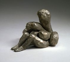 LOUISE BOURGEOIS FEMME, 2005  Bronze, silver nitrate patina 5 × 6 × 8 in 12.7 × 15.2 × 20.3 cm