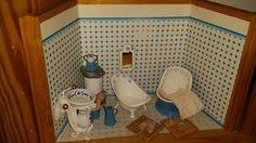 Puppenstube Bad Badezimmer Einrichtung Komplett |
