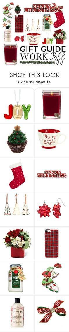 """""""Gift Guide: Quirky Traditional"""" by girl-inthe-park ❤ liked on Polyvore featuring Swarovski, Aromatique, Casetify, O' My Goodness and philosophy"""