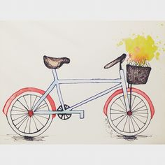 Vintage Bicycle sketch! Go to thesketchbooktn.com to see more! Bicycle Sketch, Vintage Bicycles, Art Photography, Fine Art Photography, Artistic Photography