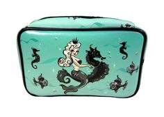 FLUFF Pearla Mermaid Make-up BagTattoo Retro Pin-up Vegan Fashion Rockabilly NR  #seahorse #mermaid #pinup #fish