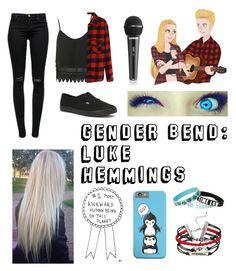 """""""Gender Bend: Luke Hemmings"""" by hood-irwin-hemmings-clifford ❤ liked on Polyvore featuring J Brand, Vans, Topshop and lukehemmings"""