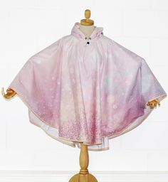 Glamourous Pink Glittery Waterproof Poncho Cape - PonchU Waterproof Poncho, Rain Poncho, Cape, Glamour, Pink, Collection, Fashion, Ponchos, Mantle