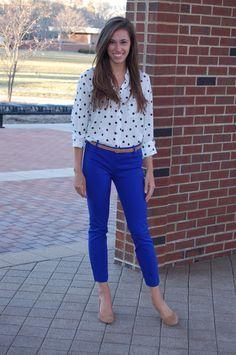 Outfit royal blue pants Blue Pant