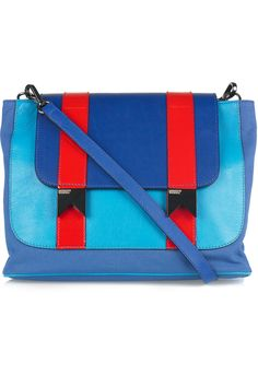 MEREDITH WENDELL Bucket leather and canvas shoulder bag £451.06