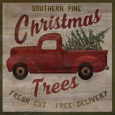 Southern Pine Christmas Trees, Retro style sign, 8x8, Printable download. by MarysMontage on Etsy https://www.etsy.com/listing/246273446/southern-pine-christmas-trees-retro