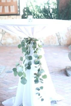 Hochzeit Eucalyptus cocktail table ties are such a lovely element to add! Wedding Table, Diy Wedding, Wedding Ceremony, Wedding Day, Wedding Church, Wedding Decor, L Eucalyptus, Eucalyptus Wedding, Marriage Dress