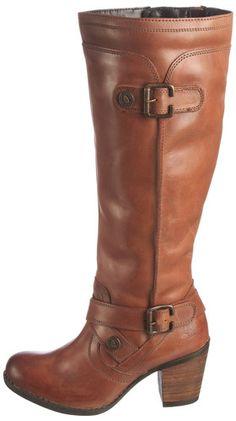 Women's Light Brown Tan Genuine Leather Knee Length Zip Boots on Cuban Heel 3x9 | eBay