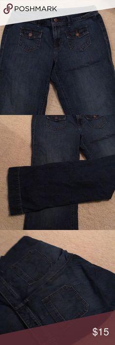 Dark wash wide leg jeans Loft jeans in dark wash LOFT Jeans Flare & Wide Leg