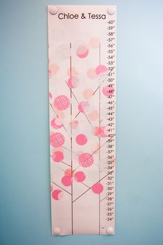 Super-cute growth chart from @Rosenberry Rooms!