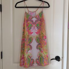 Lilly Pulitzer Dusk Dress - Size Small. Lilly Pulitzer Dusk Dress; Double Trouble Engineered; Size Small. Worn once - excellent used condition! Lilly Pulitzer Dresses