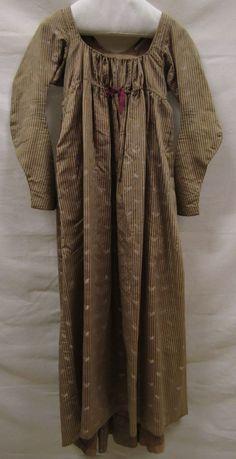 Japon | gown, ca. 1805, zijde | silk, Gemeentemuseum Den Haag. #gemeentemuseum #modemuze #janeausten