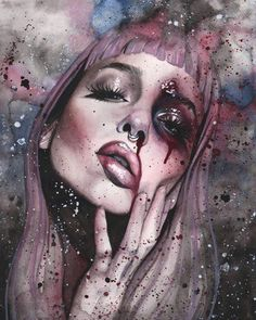 """Externalize"" by Rose Ellen Swenson Inspiration Art, Art Inspo, Art Sketches, Art Drawings, 3d Art, Arte Obscura, Digital Art Girl, Goth Art, Arte Horror"