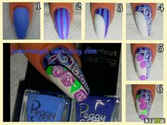 Nail art fleurs nail art tutorial nailartangel.over-blog.com