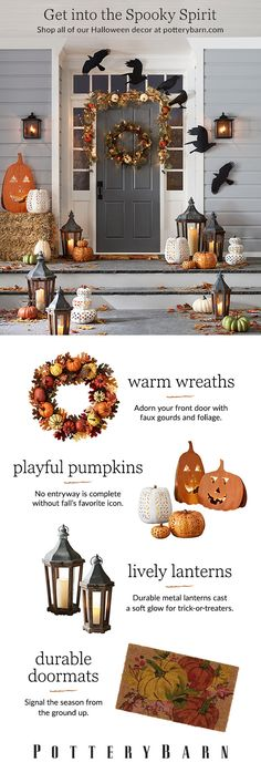 Change your front door with the changing leaves! From nostalgic to cheerful to a little spooky, there's never been more ways to signal the season.