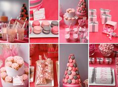Valentine's Day Dessert Table or a Pink party Dessert Bars, Buffet Dessert, Candy Buffet, Dessert Tables, Party Tables, Cookie Buffet, Dessert Ideas, Valentines Day Desserts, Valentine Treats