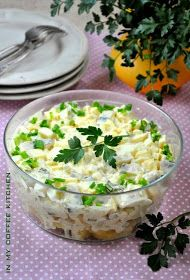 In my coffee kitchen: sałatki My Coffee, Salad Recipes, Potato Salad, Food And Drink, Menu, Snacks, Cooking, Ethnic Recipes, Kitchen