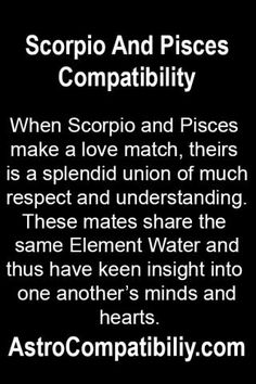 Scorpio man and pisces woman sexuality compatibility