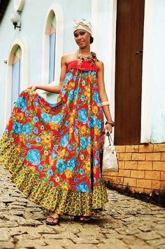 Vestido de Chita Festa Junina -  /   Dress of Cheetah June Festival -                                                                                                                                                      Mais