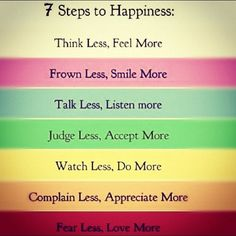 Hope to follow these more, so I can find my happiness that I lost for the past 2+ years, maybe?