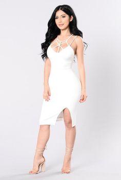 Aching Soul Dress - White