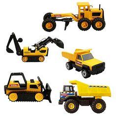 Tonka Toy Trucks >> Cool Old Toys Hi Way Vehicles Dozers Diggers And Cranes