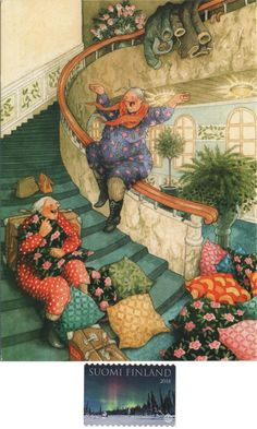 New Inge Look postcard received today Old Lady Humor, Image Originale, Art Design, Whimsical Art, Poster, Cute Illustration, Old Women, Monet, Getting Old