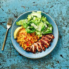 A quick and easy Peri Peri Chicken, Spicy Rice & Salad recipe, from our authentic Mediterranean cuisine collection. Find brilliant recipe ideas and cooking tips at Gousto