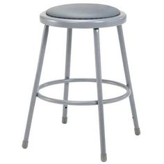 National Public Seating Stool With Padded Seat, Gray 6424 - Walmart.com