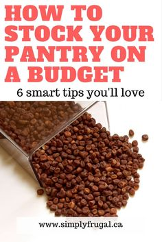 Save yourself money in the long run by learning how to stock your pantry on a budget. #pantry #grocerybudget