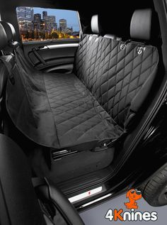 Black Back Seat Cover For Pets & Dogs