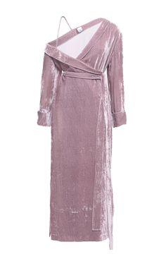 Bare Shoulder Velvet Dress by Elenareva | Moda Operandi