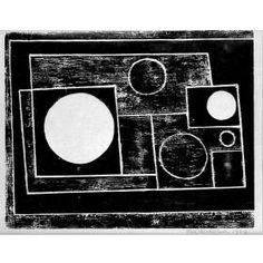 Ben Nicholson 5 Circles Woodcut