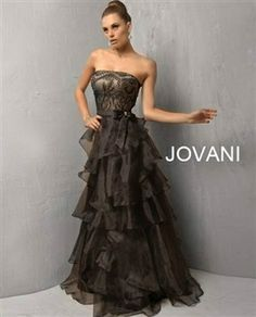 Jovani 4742 Colors: Black $400.00 Glorious formal Jovani  Evening, strapless neckline, floor length  gown features a ruffled skirt, this gown will make you feel  extremely  feminine and elegant. www.srdlooks.com