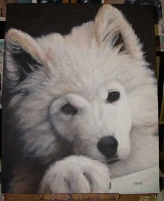 painting fur, learn to paint fur, dog painting demo, acrylic painting instruction