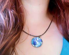 Nebula Necklace, Space Necklace, Star Necklace, Galaxy Necklace, Blue Galaxy, Space Jewelry, Galaxy Jewelry, Astronomy Necklace